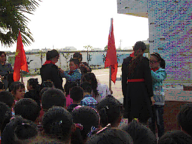 海安县大公镇北凌小学举行新生入队仪式