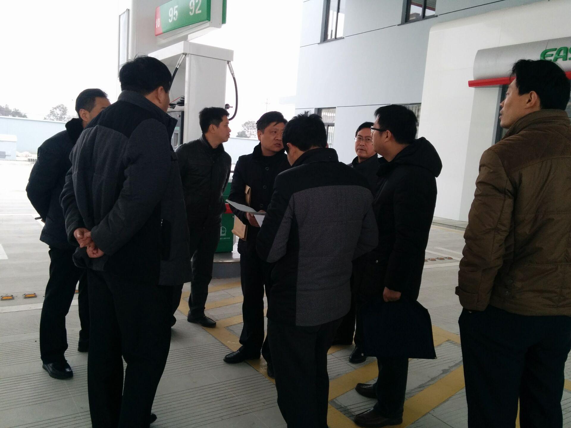 日,海安县商务局,县安监局对中石化南通销售公司海安分公司新生加油站