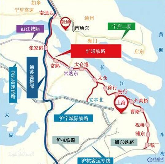 沿海铁路规划从辽东半岛出发经渤海经山东半岛至长江三角洲,最后沿着